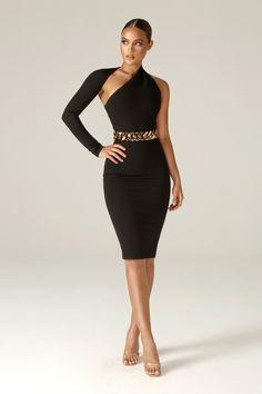 Gray Dress, Dress Up, Dress Black, Black High Neck Dress, Black Dinner Dress, Club Dresses, Dresses For Work, Dressy Dresses, Stylish Outfits
