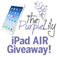 Enter now to win the HOTTEST gift this holiday season, a iPad Air!!!! http://freeipad.ThePurpleLily.com/50c718