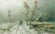 """The Snowstorm"" c.1910 - Julius Klever"