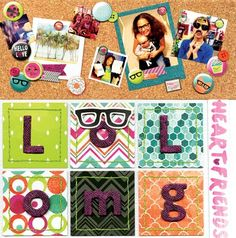 #ForeverYoung Layout - Scrapbook.com