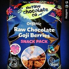 *Always #Repost @sofitriay  Sometimes you just need chocolate :D.  These are my favs. So sweet and delicious -Perfect with a cup of tea :). They wont give you a nasty sugar rush. You can get them in any #wholefoods or #planetorganic.  #highinantioxidants#vitamins #minerals#iron#boostenergy#rawfood#rawsnack#gojiberries#therawchocolatecompany#goodforyou #byebyecake#fitness#fitnesslondon#vegan#chocolate#nutritious #rawchocolate