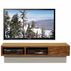 Floating TV Console - Mayan Mocha from Woodwaves - Bit like this but more scandinavian. POssible make cheaper with two shelves