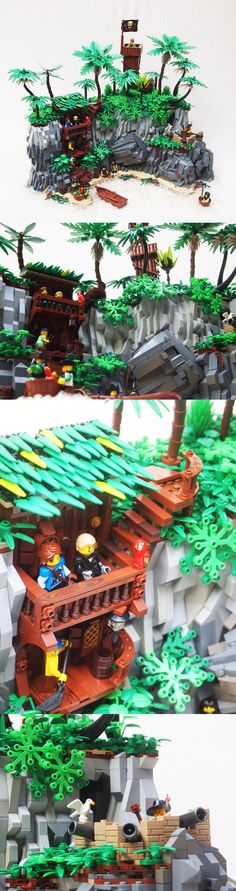 Lego Pirate Islands. I will try to recreate this in Roblox Studio.
