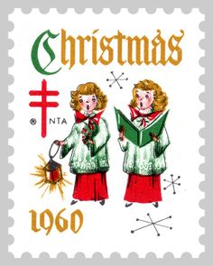 1960 Christmas Seals - I always helped my mom put them on her Christmas cards!