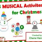Here are 3 adorable musical activities for the Holiday weeks that will challenge your students while still capturing the fun of the Christmas season.  1. Tune in Snowman Listening: Students match ? + ! phrases from Holiday songs 2. Topsy Turvy: Music & math combine perfectly in this >, < or = activity. Kids love it!! 3. Tongue Twister Sort: To unscramble the Christmas tongue twister, put  dynamics, note values, rests, line notes, space notes, etc. in order. Very fun! cphmusic.net / TpT$