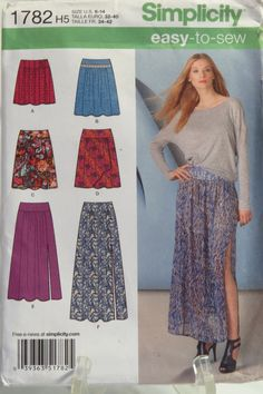 Simplicity 1782 Misses skirt in four lengths