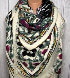 Blanket Scarf, Boho Aztec Tribal Bohemian Women's Unique Warm Oversized Large Winter Scarves, My Lovely Seasons by MyLovelySeasons on Etsy https://www.etsy.com/listing/250704488/blanket-scarf-boho-aztec-tribal-bohemian