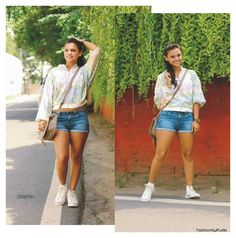 Blog post on Playful Casual: Bomber Jacket and Denim Shorts  http://fashionbyruda.com/index.php/blogs/page?bid=140f6969d5213fd0ece03148e62e461e  Styled a colorful bomber jacket in this pairing! Happy Sunday everyone!