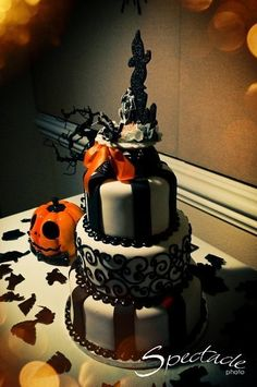 Halloween Wedding Cake.  :)