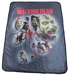 "The Walking Dead Walker Soft Fleece Throw Blanket 46"" x 60"" - Showtimesavvy"