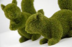 "6.25"" Moss Covered Squirrels Artificial Topiary (2 squirrels) $10 set"