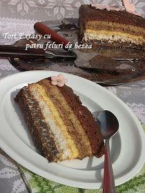 diana's cakes love: Tort Extasy cu patru feluri de bezea Russian Cakes, Russian Desserts, Homemade Sweets, Homemade Cakes, Oreo Dessert, Cake Flavors, Sweet Cakes, Desert Recipes, Something Sweet
