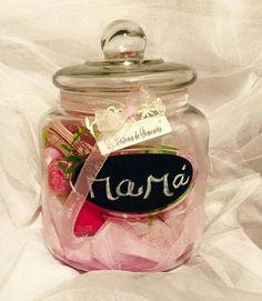Mason jar lleno de regalos para Mamá. La Cestería de Simoneta.