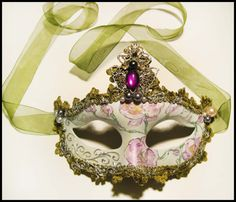 Beautiful Masquerade Mask  Orchid by RalucaElf on Etsy, $34.00
