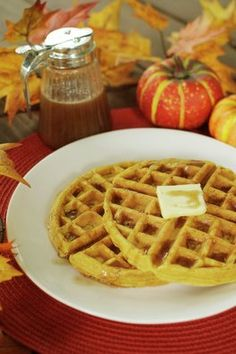 Whip up a festive fall dish to die for!  Allison Miller with Cupcake Diaries shares her recipe for pumpkin waffles with sweet cinnamon syrup!