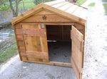 Custom Wooden Cedar Well Pump House with Open Top & Double Door 48″x48″x46″ $440 I like something small like this if we can get away with not having a full blow well house