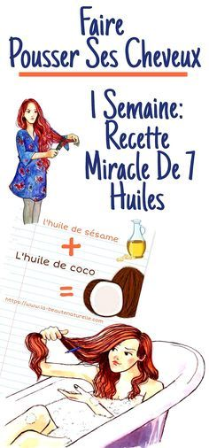 Faire pousser ses cheveux en 1 semaine: Recette miracle de 7 huiles Many people suffer from hair loss and baldness, the solution to this problem is found in hair growth oils. Baby Hair Loss, Hair Loss Cure, Oil For Hair Loss, Stop Hair Loss, Prevent Hair Loss, Organic Shampoo, Natural Shampoo, Normal Hair Loss, Best Hair Loss Shampoo