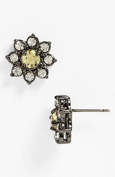 Juicy Couture 'Brilliant Blooms' Flower Stud Earrings available at #Nordstrom