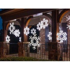 Sampson Joy Sign   Joss & Main #MiniSolarLightsForCrafts Exterior Christmas Lights, Star Christmas Lights, Christmas Lights Outside, Decorating With Christmas Lights, Christmas Snowflakes, Holiday Lights, Porch Decorating, Christmas Diy, Holiday Decor