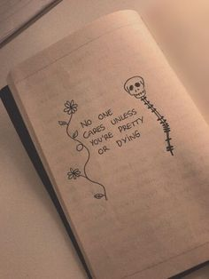 Tell my why that skeleton reminds me of the chocolate old lady on spongebob squarepants Sad Drawings, Pencil Art Drawings, Sad Sketches, Meaningful Drawings, Meaningful Tattoos, Bullet Journal Art, Bullet Journal Inspiration, Journal Quotes, Journal Pages