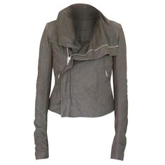 RICK OWENS $2250 distressed brown/gray lamb leather Dust biker jacket 44-ITL NEW #RickOwens #Motorcycle