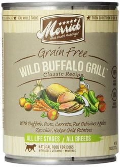 Merrick Wild Buffalo Grill Dog Food 13.2 oz (12 Count Case) * Find out more details by clicking the image : Dog food types