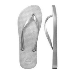 Metallic Silver Flip Flops - i had these ones but i grew out of them. seeing as the metallic flip flops, the best ones, are completely off the grid, there is no where to purchase these type of old navy flip flops. totally sucks