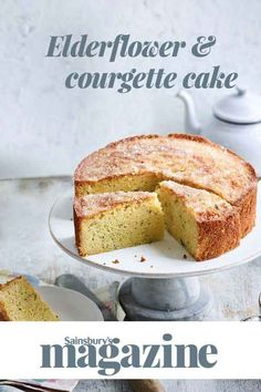 Got a glut of courgettes? Pop them in this delicious cake with elderflower! Veggie Cakes, Vegetable Cake, Baking Recipes, Cake Recipes, Dessert Recipes, Desserts, Courgette Cake Recipe, Savoury Baking, Creative Cakes