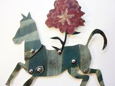 Paper Doll Cut Outs  Floral  Toy Zebra  by ArtistInLALALand, $9.00