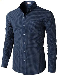 Mens Casual Slim Fit Plaid Check Patterned Button Down Shirts NAVY US S/Asia M Go to the website to read more description. Button Down Outfit, Button Down Shirt, Button Shirts, Men's Shirts, Casual Shirts For Men, Men Casual, Plaid Fashion, Men's Fashion, Shirt Style