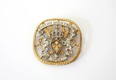 Vintage CORO Signed Shield Brooch Order of the Dutch Lions Netherlands Order of Chivalry by VintageReBelle on Etsy