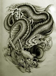 Dragon Tattoo Style 1 Awesome But Weird Oriental Dragon Tattoo Designs Dragon Tattoo Styles, Black Dragon Tattoo, Dragon Tattoos For Men, Chinese Dragon Tattoos, Dragon Tattoo Designs, Tattoo Designs Men, Tattoos For Guys, Tatoo Art, Body Art Tattoos