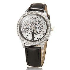 Patrón de cristal Árbol de la Mujer pu banda de cuarzo reloj de pulsera analógico (colores surtidos) – CLP $ 5.430