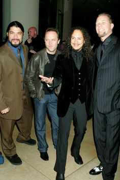 Metallica de gala. Menos o Lars que é do contra