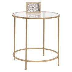 International Lux Side Table - Satin Gold - Sauder
