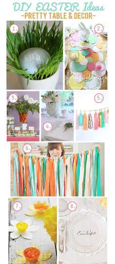 Easter is just around the corner..  Here's some DIY Ideas for your Easter Table and Decor!