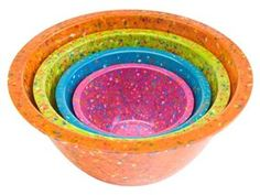 These Zak! Design confetti bowls are just dazzling!  You can use them for serving or for mixing.