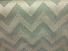Spa blue chevron fabric