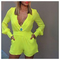 Neon Yellow Short Jumper  ☻                                                                                                                                                                  ⇜•ṄεΦЙ❉€яᗛƶΣ•⇝