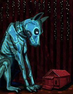 """Hellhound."" Art Print by Birdcap on Society6."