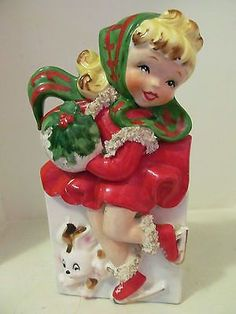 christmas figurines Vintage