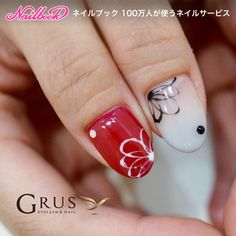 Ombré and simple floral pattern - thumbs #Nailbook