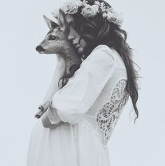 Portrait - Bohemian Fashion - Deer - Wildlife - Black and White - BOHO - Hippie - Photography White Photography, Street Photography, Fashion Photography, Hippie Photography, Photography Portraits, Monochrome Photography, Bridal Portraits, Nature Photography, Wedding Photography