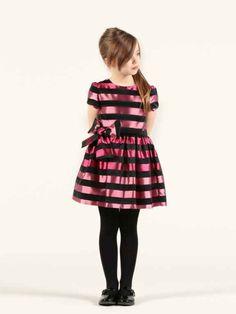 Pink Striped Party Dress by Rykiel entfant