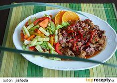 Vepřová pochoutka na černém pivu a tvarůžkách recept - TopRecepty.cz Beef, Food, Meat, Meal, Eten, Meals, Ox, Ground Beef, Steaks