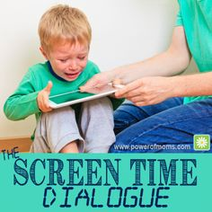 screen-time-dialogue - great conversation whether you have toddlers or teens (just need to adjust to the maturity level)