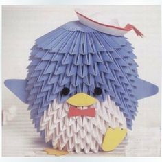 DIY Kits for Origami Triangle Origami White Blue Lovely Penguin