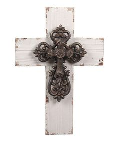 Loving this Distressed Wall Cross Décor on Wooden Crosses, Crosses Decor, Wall Crosses, Decorative Crosses, Cross Love, Sign Of The Cross, Biscuit, Cross Wall Decor, Cross Wreath