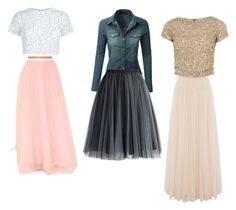 """""""How to wear Tulle skirts"""" by samariapretty on Polyvore featuring LE3NO, Chicwish, Keepsake the Label, Needle & Thread and Alice + Olivia"""