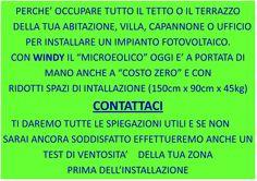 micro eolico, eolico, costo zero